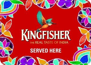 We serve Kingfisher