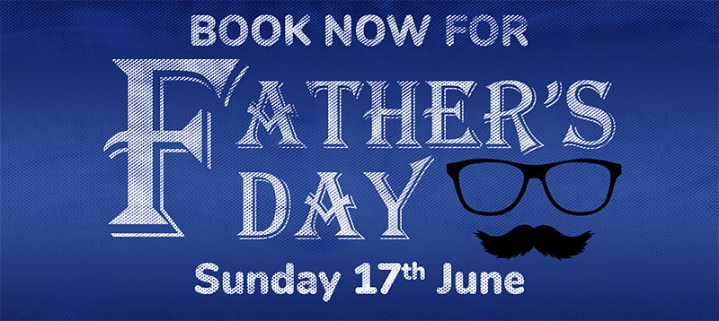 Book now for Father's Day.